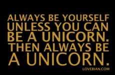 Motivational Mythical Creature Clothing - Unicorn Clothing Encourages Individuality and Unicornism