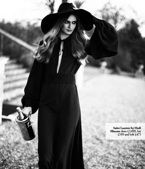 Moody 70s Diva Editorials - The Saint Laurent 2013 Womenswear Photo Shoot Is Nostalgically Chic