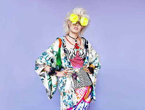 Color Overdose Editorials - The 'Power and Passion' Oyster Magazine Fashion Story is Pattern-Filled