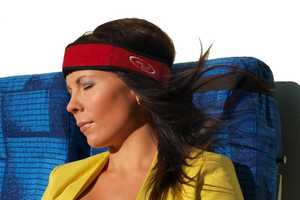 The Relax Ally Travel Restband Securely Holds Your Head in Place