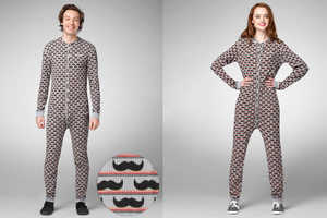 The Mustache Onesie is Ideal for Cold Winter Nights