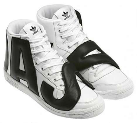 Bold Typography Sneakers - The JS P-Letters Shoe by Jeremy Scott Boast Blown-Up Branding