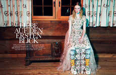 The Elle Netherlands February 2013 Photoshoot Stars Rianne van Rompaey