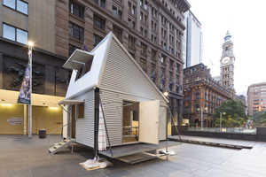 Shelter/Pavilion is an Efficient Emergency Abode of Material Scraps