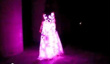 aurora LED dress