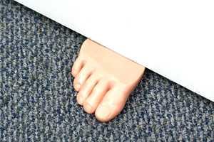 Open up Doors with the Foot in the Door Doorstop