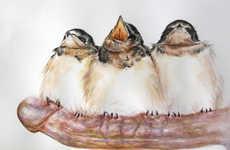 Phallic Fowl Paintings