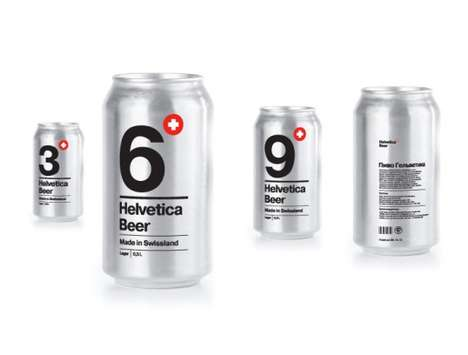 Helvetica Beer Packaging