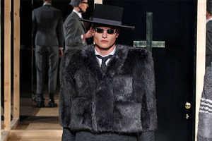Thom Browne Fall 2013 Menswear Runway Showcases Broad Features