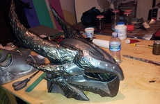Futuristic DIY Fantasy Armor - Cosplayer Creates Convincing Skyrim Armor to Strike Fear into Evil