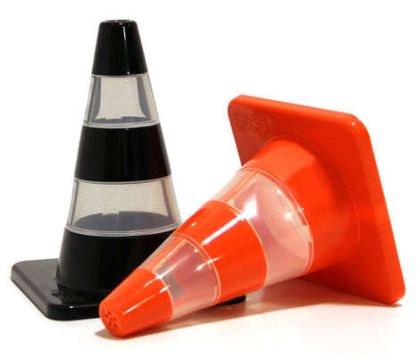 Traffic Cone Salt and Pepper Shakers