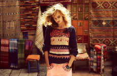 Bohemian Rooftop Lookbooks - The Maison Scotch Spring 2013 Collection is Colorfully Carefree