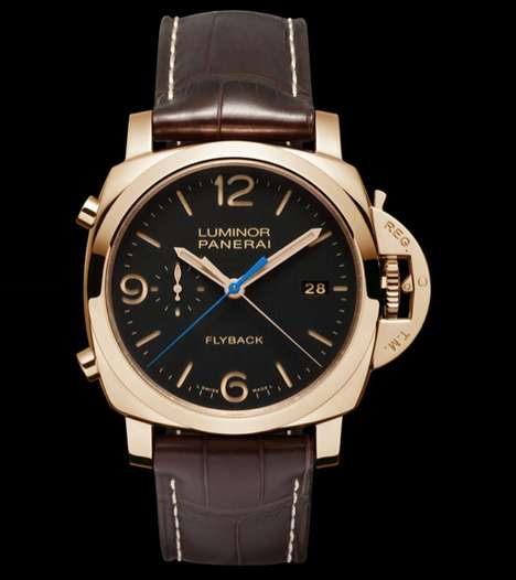 Upscale Chronograph Watches - The Panerai PAM 525 Luminor Flyback Chronograph Watch is Modern