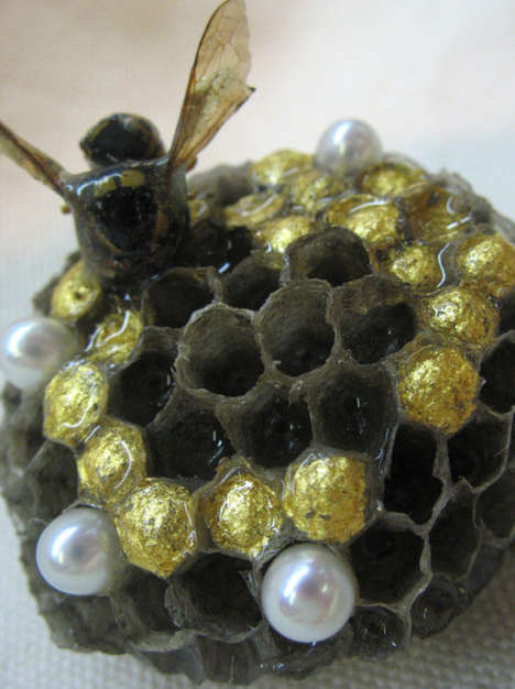 Wasp Nest Brooch