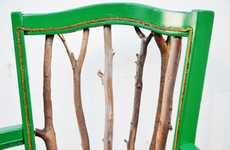 DIY Tree Branch Seating - The Trash to Treasure Statement Chair Tutorial is Incredibly Creative