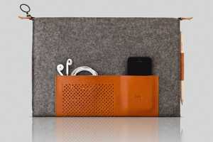 MacBook Case Combines Felt and Leather for a Soft and Stylish Texture