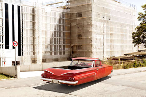 Imagined Hover Car Photography - Air Drive by Renaud Marion Depicts Floating Vintage Vehicles