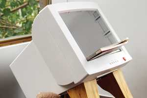 The Rebirth Magazine Rack Gives a Second Life to E-Waste for Print