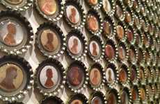Expressive Bottle Cap Art