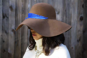The DIY Feather Hat is Crafty and Chic