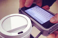 Coffee-Holding Phone Cases - Uppercup Keeps Your Mobile and Caffeine Safe