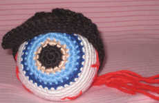 This Crochet Eyeball is Inspired by a Tom Waits Song