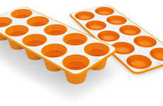 Flattenable Freezer Accessories - Push in the Indentations of the Pop-Up Ice Tray for Easy Access