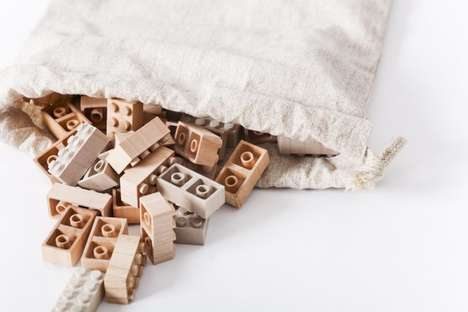 Timber Toy Bricks - The Mokurokku Wooden LEGO Set Puts Natural Materials Back into Your Hands