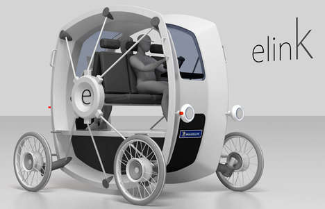 Wheel-Like Future Carriages - The eLink by Jorge Biosca Marti is Reduced in Unnecessary Components