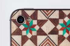 Timber Tiled Cell Cases - The Tarxia Wood Phone Covers Feature Intricate Mosaic Patterns