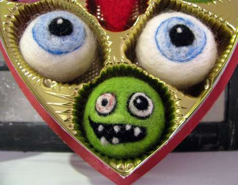 Romantically Gruesome Plushies - Felt Monsters and Eyeballs Make for an Unusual Valentine Gift