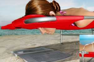 The Vega Plus Beach Chaise Includes Strategically Placed Holes