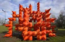 Illuminated Safety Cone Sculptures
