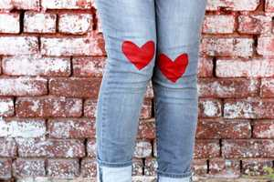 Show Legs Love and Affection with These 'A Beautiful Mess' Jeans
