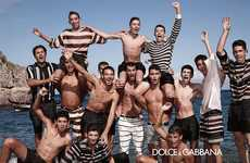 Summery Seaside Campaigns - The Dolce and Gabbana 2013 Ads Feature Family, Friends and High-Fashion