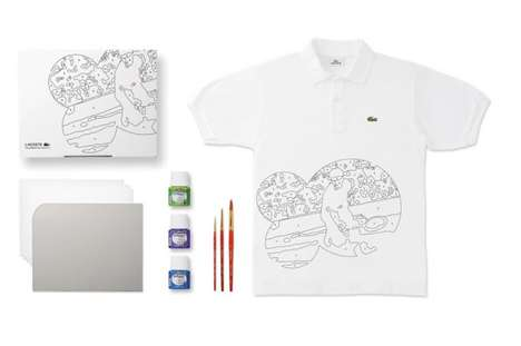 Customizable Graffiti Shirts - Lacoste Releases DIY Golf Shirt Kit Collection