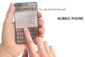 The Bubble Phone Provides a Tactile Surface for Typing Text Messages