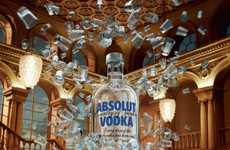 Monumental Alcohol Ads - The Absolut Vodka Campaign is Impressively Celebratory