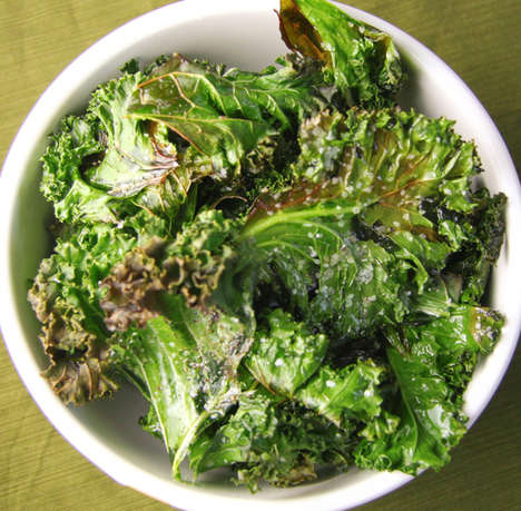 Healthy Potato Chip Alternatives - Kale Chips are a Fantastic Low Fat Alternative to Standard Crisps