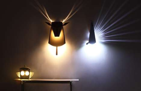 Illusory Origami Illuminators - Pop Up Lighting Expresses its Inner Animal Once Switched On