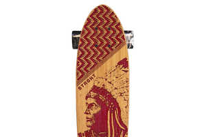 The Tribal Skateboard Designs by Strght are Fittingly Hand Made