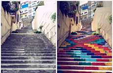 The Art Collective Dihzahyners Painted 73 Stairs in Beruit