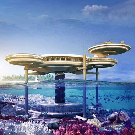 Orbit-Inspired Underwater Hotels - The World's Largest Underwater Hotel Located is Designed by DOP