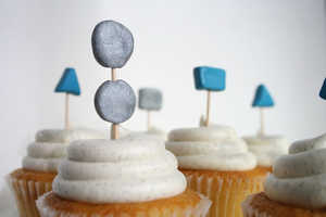 The Geometric Cupcake Topper is Sleek and Delicious