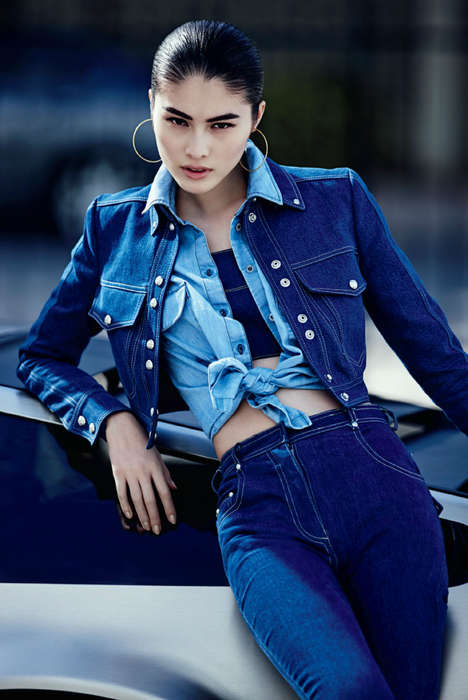 Canadian Tuxedo Editorials - The Sui He by Lachlan Bailey Portrait Series is Denim-Clad