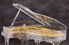 See-Through Grand Pianos - The Transparent Grand Pianos by Crystal Music Company are Revealing
