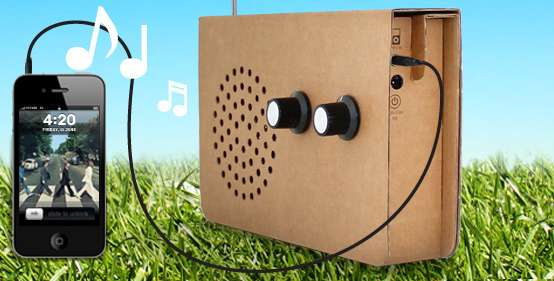 Recyclable Corrugated Radios