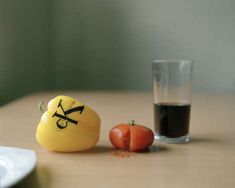 Branded Produce Portraits - Still Life with Fruits by Ting Ting Cheng Comments on Consumerism