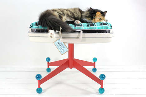 Upcycled Samsonite Suitcase Pet Bed