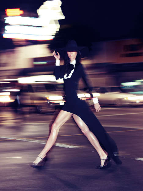 Markedly Fierce Metropolitan Photoshoots - The Vogue Spain Black Tie Editorial is Edgy and Urban